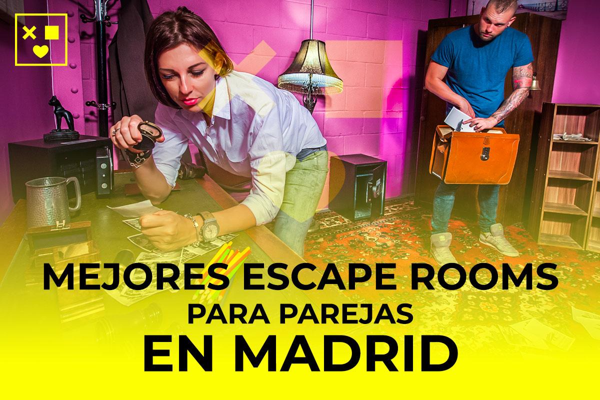 Mejores escape rooms parejas Madrid